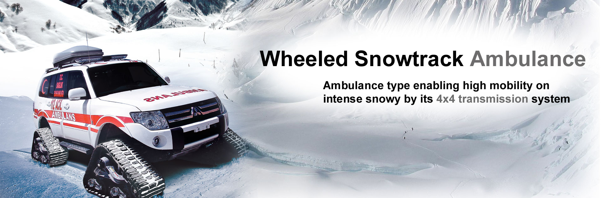 EMS Wheeld Snowtrack Ambulance